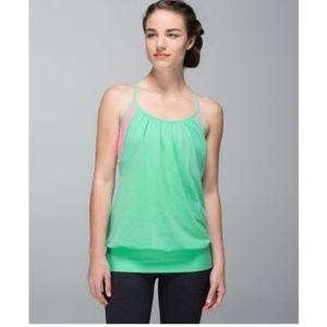 Lululemon No Limits sport bra Top in mint and pink